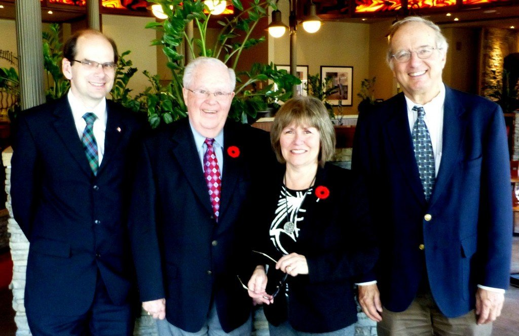 Terry Johnson, Jim Houston, Mabel Higgins, and Peter Miasek