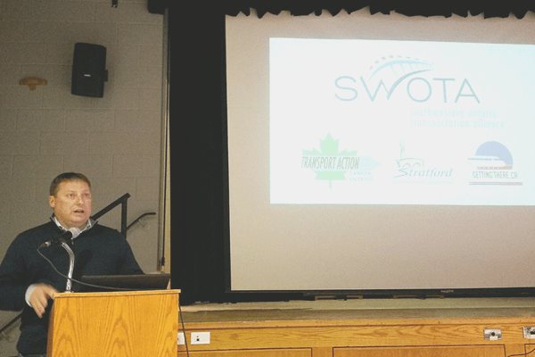 Dan Mathieson, Mayor of Stratford, opening the Network Southwest Forum on February 12, 2015